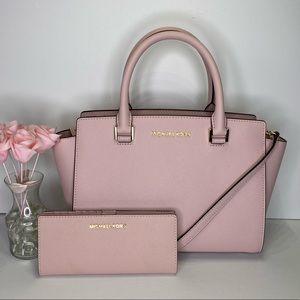 👛MICHAEL KORS👛Selma with matching wallet Pink